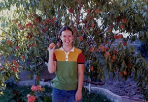 The 70's MJ (of MJ's Kitchen) and her peach trees