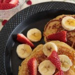 Cornmeal Ricotta Pancakes with a hint of lemon