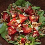Strawberry Pinon Salad with Coconut @MJsKitchen