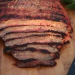 Grilled Flank Steak with Soy-Port Marinade