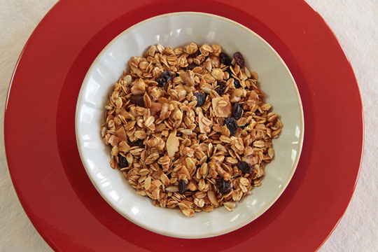 Walnut Raisin Granola with sunflower seeds and coconut #granola @mjskitchen | mjskitchen.com