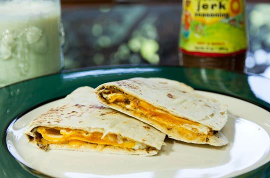 Tortilla Egg Sandwich (quesadilla) @MJsKitchen