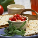 Quesadillas with pico de gallo