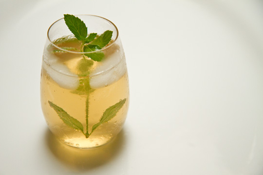 Jamaican Rum with ginger simple syrup and sparkling water @MJsKitchen mjskitchen.com