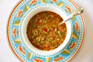 A bowl of New Mexico Green Chile Sauce