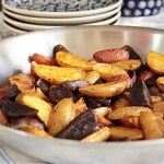 Fingerling potatoes roasted with smoked paprika