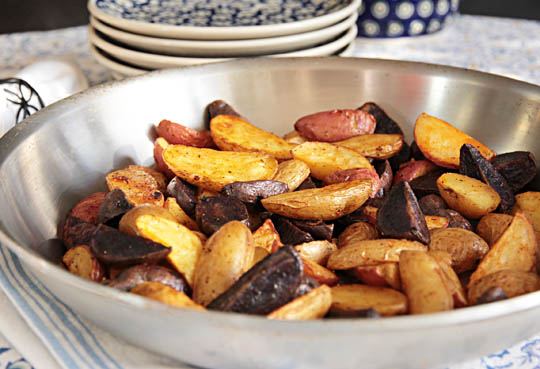 Roasted fingerling potatoes with smoked paprika