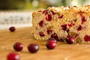 Close up of delicius cranberry bread