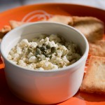 Feta cheese dip with roasted garlic