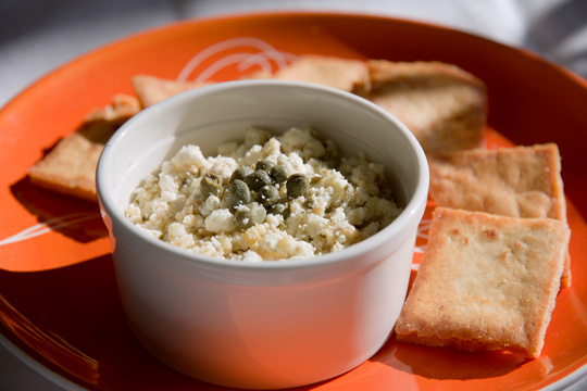 A quick and easy roasted garlic feta dip. Only 4 ingredients! #roasted #garlic @mjskitchen mjskitchen.com