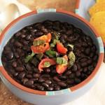 Pressure-cooked black beans | mjskitchen.com