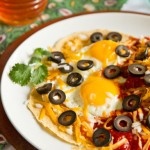 Huevos Rancheros with New Mexico red chile sauce. #redchile #recipe @MJsKitchen