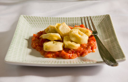 Tortellini with Roasted Pepper and Onion @MJsKitchen