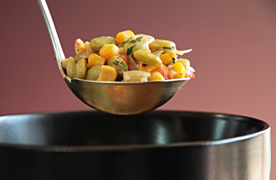 Southern succotash with New Mexico Green Chile