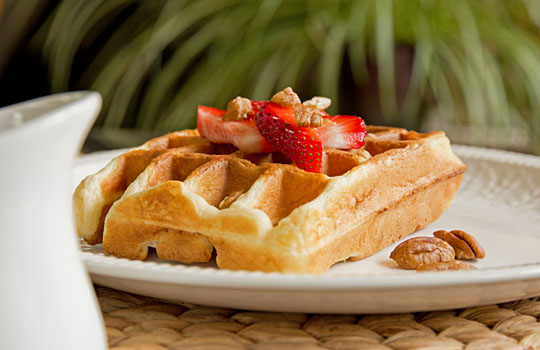 Banana Buttermilk Waffles #waffles #recipe @MJsKitchen