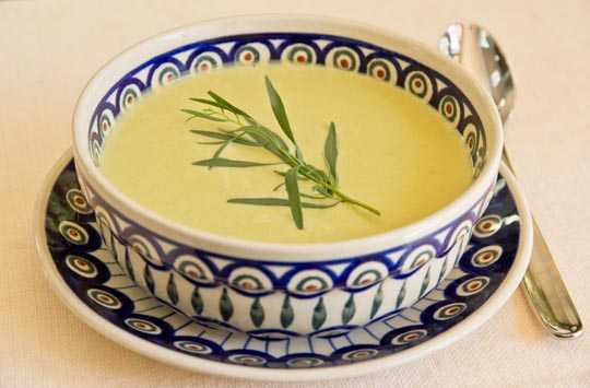 Cold Asparagus and Garlic Soup @MJsKitchen