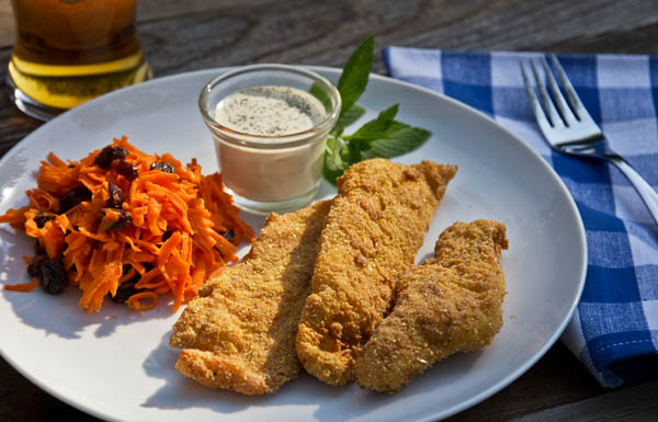 Crispy southern fried catfish fillets