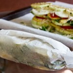 vegetables wrapped in Parchment