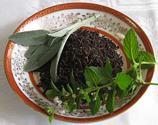 Black Tea with Sage. @MJsKitchen