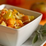 Roasted Butternut squash with apples, sage and Manchego cheese