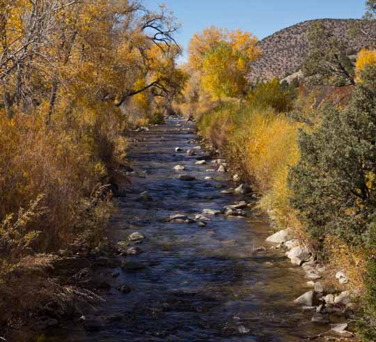 Fall on the Rio Embudo, New Mexico