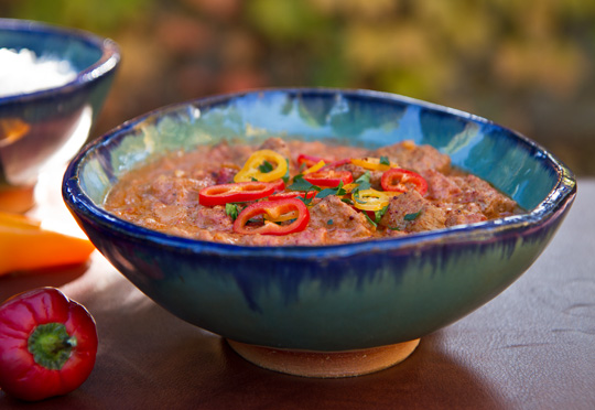 An African stew with beef and peppers| mjskitchen.com