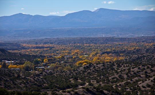 Fall colors of Chimayo, New Mexico