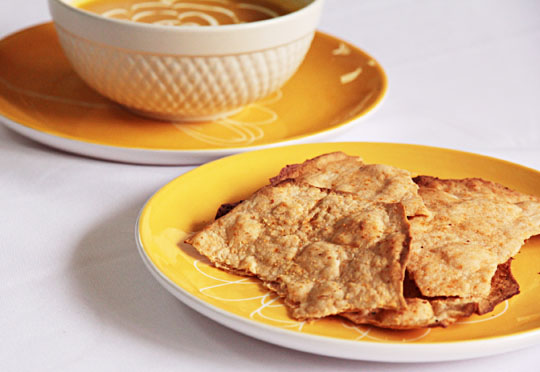 Homemade Crackers with Red chile powder