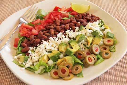 Spicy Bean Salad with Honey Lime Dressing #vegetarian @mjskitchen