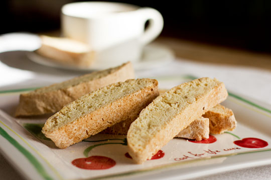 Pinon Biscotti with a hint of lavender