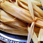 An alternate way to wrap tamales - tie at both ends