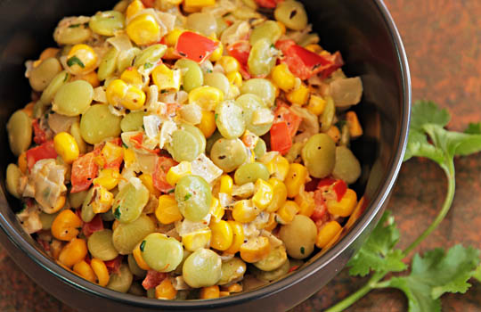 Green Chile Succotash #recipe @MJsKitchen