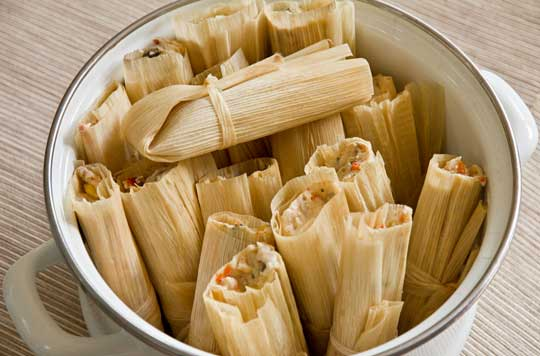 Vegan tamales with green chile, mushrooms and corn. mjskitchen.com
