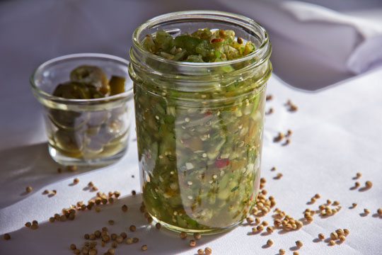 Salsa made with Tomatillo and Green Chile #recipe @MJsKitchen