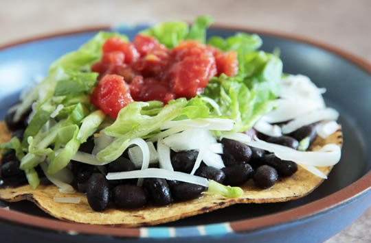 Black Bean Tostada @MJsKitchen