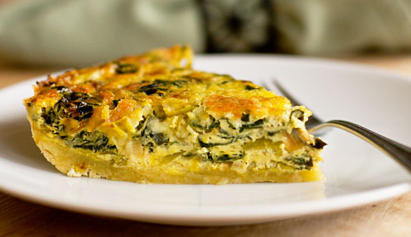 This Swiss chard leek quiche is so delicious it makes you not care ...