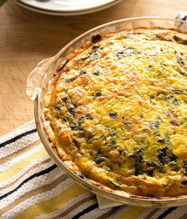 Make the perfect quiche every time. This Swiss chard quiche is a good place to start. #quiche #vegetarian @mjskitchen