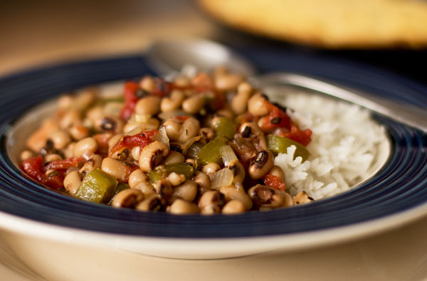 Bowl of black-eyed peas