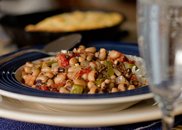 black-eyed peas and cornbread