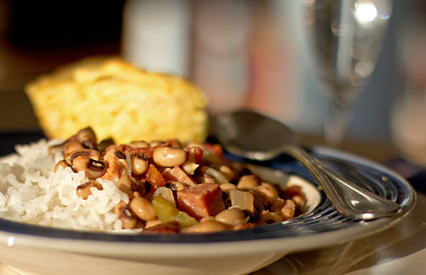 Hoppin John and cornbread