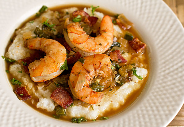 Shrimp and Grits with Red chile powder mjskitchen.com