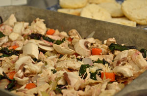 Filling for chicken pot pie
