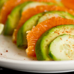 Salad with oranges and avocado