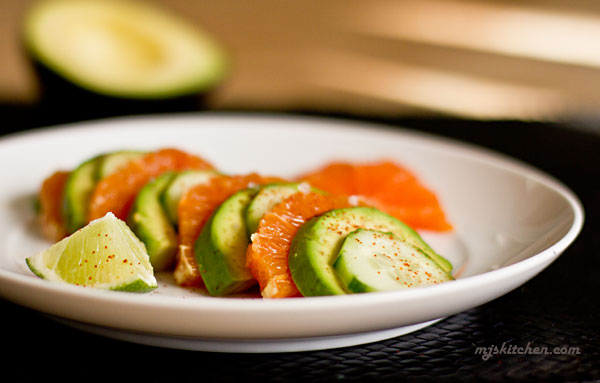 Cara Cara Orange, Avocado, and Cucumber