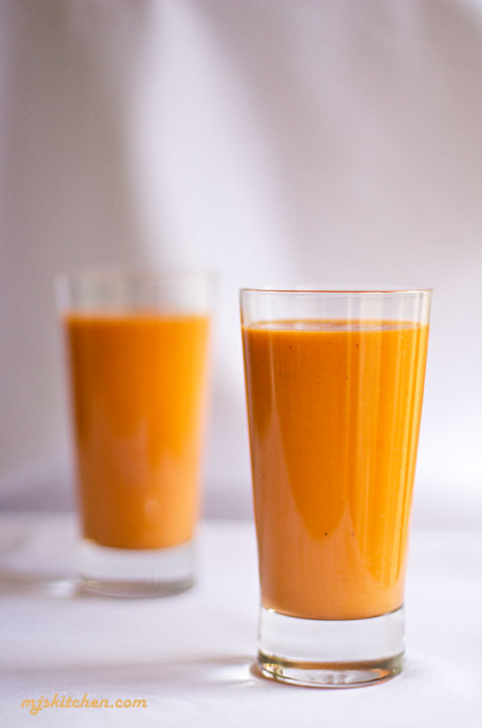 Thai Tea Smoothie with Apricot and Mango