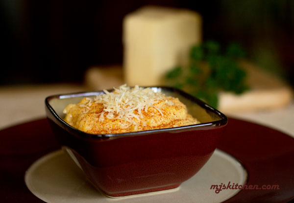 Polenta with smoked paprika and aged cheddar