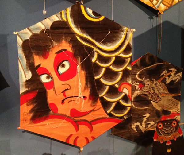 Japanese kites at the Museum of International Folk Art