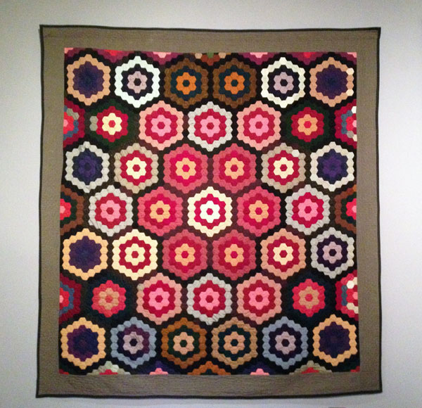 Amish Quilt 1890 displayed at the Museum of International Folk Art 2013