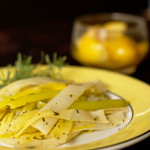 Leeks lightly braised with preserved lemons and tarragon. @MJsKitchen