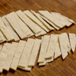 Fried corn tortilla strips preparation